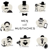 Équipez avec l'illustration de moustaches Image stock