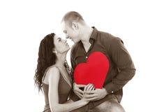 Équipez et une femme dans l'amour en noir et blanc Photos libres de droits