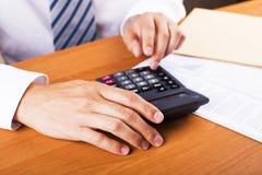 Équipez faire sa comptabilité, fonctionnement financier de conseiller image libre de droits