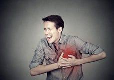 Équipez la souffrance du chagrin d'amour pointu grave, douleur thoracique Photos libres de droits