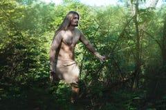 Équipez la vie dans les bois comme un sauvage Photographie stock