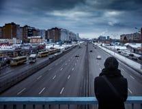 Équipez le cityview de observation, jour de nuage, extérieur Images libres de droits