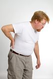 Équipez le dos de douleur Image stock
