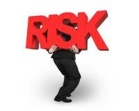 Équipez le mot rouge de transport de RISQUE d'isolement sur le blanc Photographie stock libre de droits