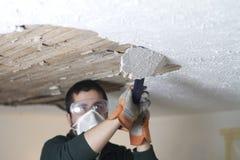 Haut étroit de éraflure de plafond Photo stock
