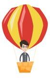 Équipez le vol dans l'illustration chaude de vecteur de ballon à air Photo libre de droits