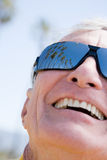 Équipez les lunettes de soleil s'usantes Photos stock