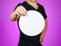 Équipez montrer le livret de brochure d'insecte arrondi par blanc vide feuillet photos libres de droits