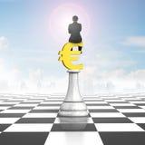 Équipez se reposer sur l'euro symbole des échecs d'argent Photographie stock libre de droits