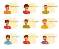 Équipez tenir une fausse moustache sur un vecteur de bâton cartoon Art d'isolement illustration libre de droits