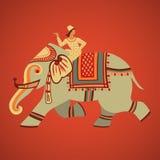 Équitation d'éléphant Photo libre de droits