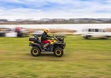 Équitation d'ATV à la grande vitesse Image stock