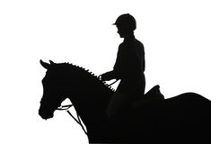 équitation de concurrence Photographie stock libre de droits