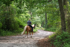 Équitation de Horseback d'homme photographie stock libre de droits