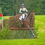 Équitation de Kate Rocher pour la Grande-Bretagne chez Blair Images libres de droits