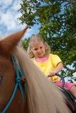 équitation de poney Images libres de droits