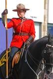 Équitation de RCMP dans le défilé de jour du ` s de St Patrick, Ottawa, Canada Images libres de droits