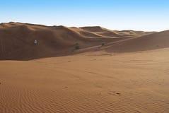Équitation dunaire dans le désert Arabe Photographie stock