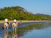 Équitation en Costa Rica Images libres de droits