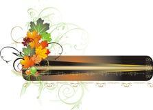 érable de feuillage de décor de carte d'automne Photographie stock libre de droits