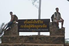 Érable, feuille, Phukradueng, Loei Images libres de droits