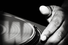 Éraflure du DJ Photographie stock