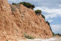 Érosion côtière de bord de la mer images stock