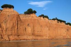 Érosion côtière de bord de la mer images libres de droits
