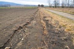 Érosion de destruction de sol image libre de droits