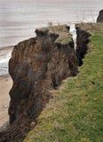 Érosion de falaise d'argile Image libre de droits