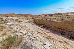 Érosion de la terre après une tempête de pluie photographie stock