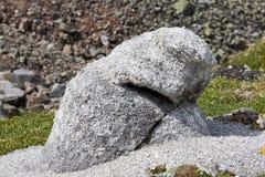 Érosion de temps Désintégration granulaire Fragment de granitoïde image stock