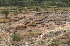 Érosion du sol en Ethiopie images libres de droits