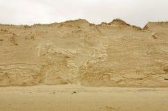 Érosion latérale de plage photographie stock libre de droits