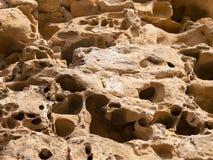 Érosion marine sur les roches du port de Pasajes 2 images stock