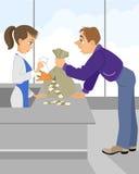 Érosion monétaire - concept illustration de vecteur