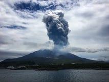éruption Images stock