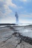 Éruption d'écoulement de boue de Sidoarjo Images libres de droits