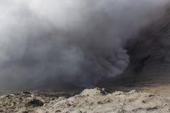 Éruption de Moutain Bromo Vulcano Photos libres de droits