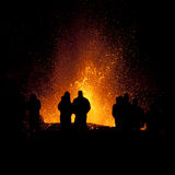 Éruption de volcan, fimmvorduhals Islande Photo libre de droits