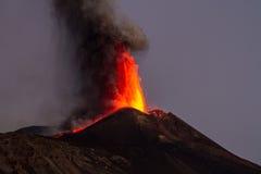 Éruption de Volcano Etna Images libres de droits
