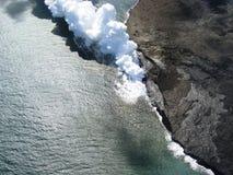 Éruption de Vulcano photo stock
