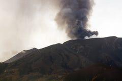 Éruption du mont Etna Images libres de droits