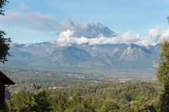 Éruption du volcan de Villarrica Photos stock