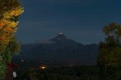 Éruption du volcan de Villarrica photos libres de droits