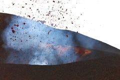 Éruption volcanique Tolbachik photographie stock