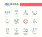 Ésotérique - ligne icônes de conception réglées illustration de vecteur