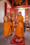 Ésta es ceremonia de la ordenación y cultura tailandesa Fotos de archivo libres de regalías