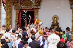 Ésta es ceremonia de la ordenación y cultura tailandesa Foto de archivo