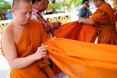 Ésta es ceremonia de la ordenación y cultura tailandesa Fotografía de archivo libre de regalías